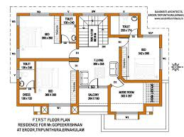 Kerala House Plans   Estimate for a sq ft Home DesignKerala Home Design First floor plan
