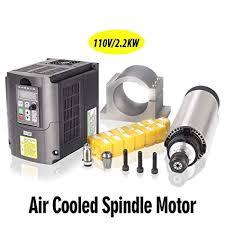 MYSWEETY 1Set DIY 110V 2200W Air Cooled Spindle Motor CNC ...