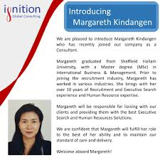 new employee announcement ignition global magareth employee announcement
