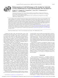 Enhancement on <b>Cycle</b> Performance of Zn Anodes by <b>Activated</b> ...
