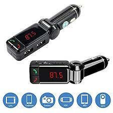 <b>New Slim</b> Wireless <b>Bluetooth</b> Car Kit Handsfree FM Transmitter <b>MP3</b>...