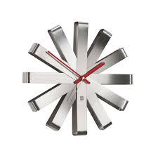 <b>Часы настенные Ribbon</b>, стальные - Рекламная группа KIOSK