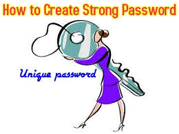 how to create strong password