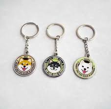Kabosu Dog Keyring Cute <b>Shiba Inu Pattern</b> Key Ring Doge Key ...