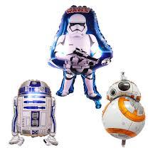 1PC <b>Star Wars Balloons Star Wars</b> Jedi White Warrior <b>R2 D2</b> BB 8 ...