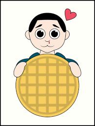 """<b>Stranger Things</b> Eleven <b>Cartoon</b> Eggo Waffle"" Art Print by danihops ..."