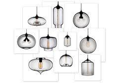 blown glass pendants axia modern lighting