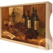 """<b>Поднос</b> Gift'n'Home """"<b>Винтажные вина</b>"""", дерево, 25 х 37,5 см в ..."""