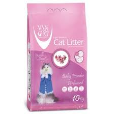 <b>Van Cat</b> White Bentonite Clumping Cat Litter <b>Baby Powder</b> 10Kg ...