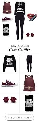 best ideas about high school outfits polyvore cute high school outfit by caity0312 on polyvore featuring converse michael kors