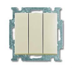 <b>Выключатель трехклавишный ABB Basic 55</b>, слоновая кость ...
