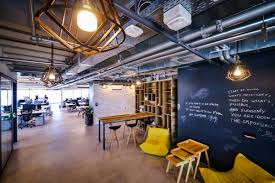 facebooks offices in tel aviv make use of public chalkboard walls to write on but with a more restrained design intended to promote work over socializingjpg amazing netflix office space design