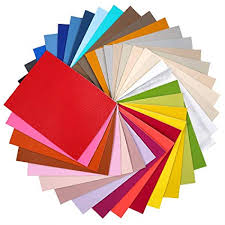 Caydo 36 Pieces Faux PU Leather Fabric Sheet ... - Amazon.com