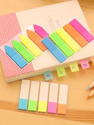 Buy <b>3Pcs</b> Mini Fluorescent Sticky Notes 5 <b>Colors</b> Self Adhesive ...