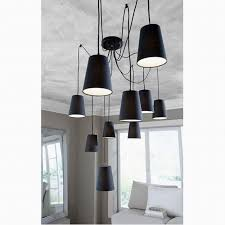modern large black spider braided pendant lamp diy 10 heads clusters of hanging black fabric shades ceiling lamp e14 lighting black fabric lighting