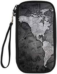 <b>WHEREISART</b> Multi-Purpose Passport Holder Family, World Map ...