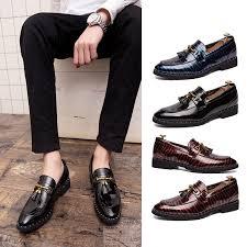 Genuine Leather formal <b>shoes</b> black Classic <b>Tassel</b> Oxford <b>Business</b> ...