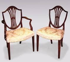 hepplewhite shield dining chairs set: dining chairs mahogany england george ii the uk  s premier