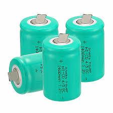 <b>Lot</b> AnmasPower <b>4 PCS</b> 4/5 Sub C SC 1.2V <b>1400mAh</b> NiCd ...