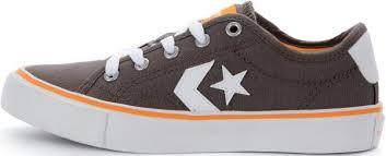 Кеды детские Converse Star <b>Replay</b> серый/белый/оранжевый ...