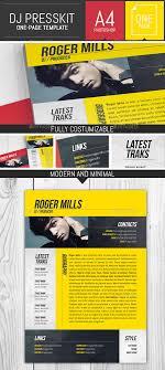 dj musician onepage press kit resume template musicians resume template