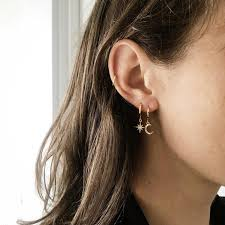 Women's <b>Star/Moon</b> Shaped Dangle <b>Earrings</b>