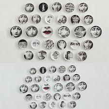 <b>6</b>/8'' <b>Fornasetti</b> Art <b>Plate</b> Retro Home Wall Decor Fashion Cramic ...