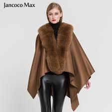 Ladies' <b>Genuine</b> Cashmere Ponchos <b>Fashion Style Fur</b> Capes With ...