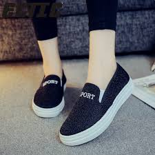 <b>Hot</b> sale Black canvas shoes loafers female fashion design <b>casual</b> ...