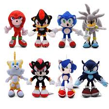<b>31cm</b> Big Blue <b>Sonic Plush</b> Toys Cute Soft Cotton Stuffed Cartoon ...