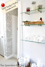 glass shelves in bathroom diy budget bathroom renovation diy budget bathroom renovation side bar