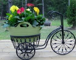<b>Bicycle Plant Stand</b> Flower Pot Holder Iron <b>Bike</b> Indoor Outdoor ...