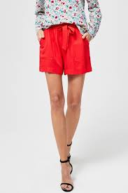 <b>Moodo</b> Red Shorts with Belt - Women´s <b>Trousers</b>, Shorts • Differenta ...