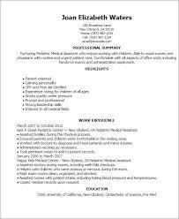 professional pediatric medical assistant templates to showcase resume templates pediatric medical assistant medical assistant resume samples