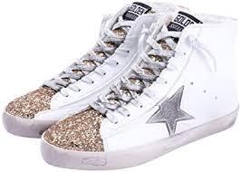 FENIKUSU <b>Women's</b> Flat <b>Sneakers</b> High Top Glitter <b>Fashion</b> Star ...