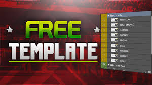 fifa squad builder thumbnail template pack
