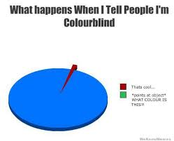 What Happens When I Tell People I'm Colorblind | WeKnowMemes via Relatably.com