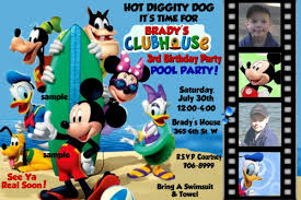 4 original mickey mouse clubhouse photo birthday invitations 4 original mickey mouse clubhouse photo birthday invitations