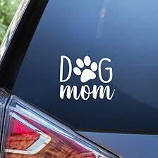 Amazon.com: Blue <b>Giraffe</b> Inc <b>Dog</b> Mom <b>Car Decal</b> - 4'' Puppy ...
