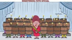 Resultado de imagem para charges - pronunciamento presidente e os ministros