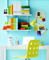 cute home office ideas small home office blue light color themed sophisticated compact tight home charming home office light