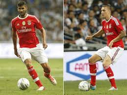 Image result for photo lisandro lopez and lindelof benfica cd