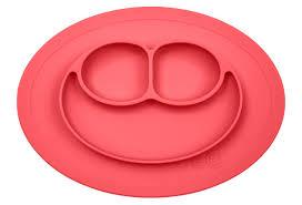 <b>Силиконовая тарелка</b> с подставкой <b>EZPZ</b>, коралловая, маленькая ...