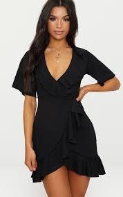 <b>Ruffle Dresses</b> | Off The Shoulder <b>Ruffle Dress</b> | PrettyLittleThing USA
