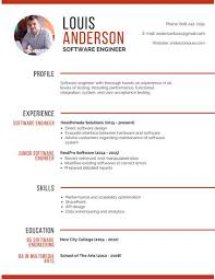 professional software engineer resume musicians resume template