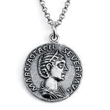 <b>925 Sterling Silver</b> REPLICA Otacilia Severa <b>Roman</b> Coin Pendant ...