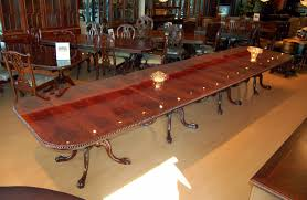 Chippendale Dining Room Table Buy Large 18 Ft Burl Mahogany Chippendale Dining Table By Mm