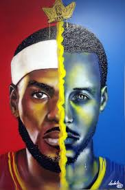 mcmenamin asked tristan thompson to tell me something about delly lebron james vs steph curry painting nba finals tribute