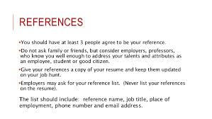 effective resume  cv writing   references you should