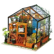 Robotime <b>DIY Miniature Dollhouse</b> Kit-DG104-Cathy's Flower ...